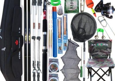 Рыболовные снасти и предметы личной гигиены